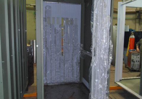 puerta tablilla doble acceso para ascensores