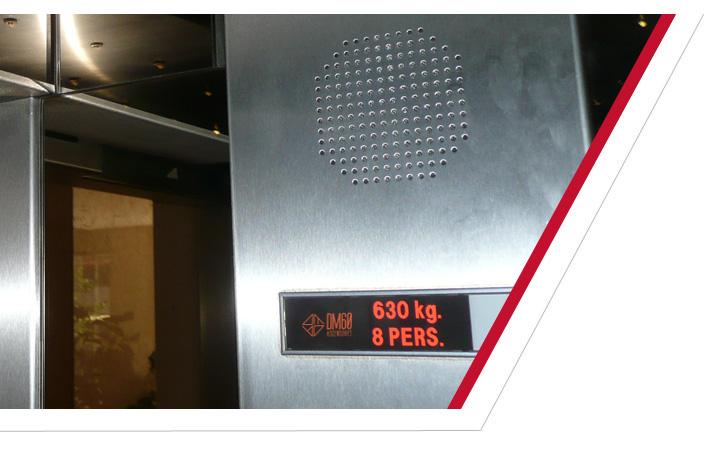ascensores sintetizador de voz y control de carga